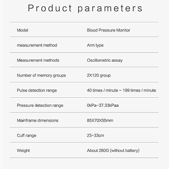Tensiómetro Hogar Completamente Automatico Inteligente Electrónica Tensiómetro De Brazo Digital Tecnología Intellisense Para Dar Lecturas De Presión ...