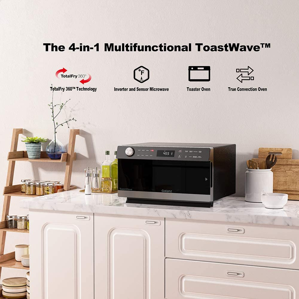 Best Countertop Microwave Oven - Galanz GTWHG12S1SA10 4-in-1 ToastWave with TotalFry 360, Convection, Microwave, Toaster Oven Air Fryer