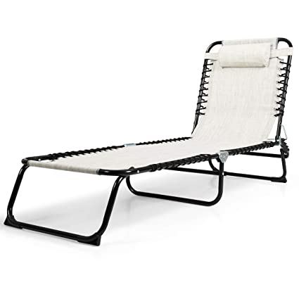 Marvelous Chaise Lounges Goplus Folding Chaise Lounge Chair Portable Gmtry Best Dining Table And Chair Ideas Images Gmtryco
