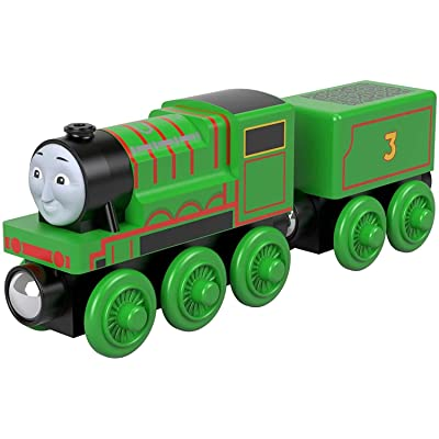 Thomas & Friends Fisher-Price Wood Henry Push-Along Train Engine: Toys & Games