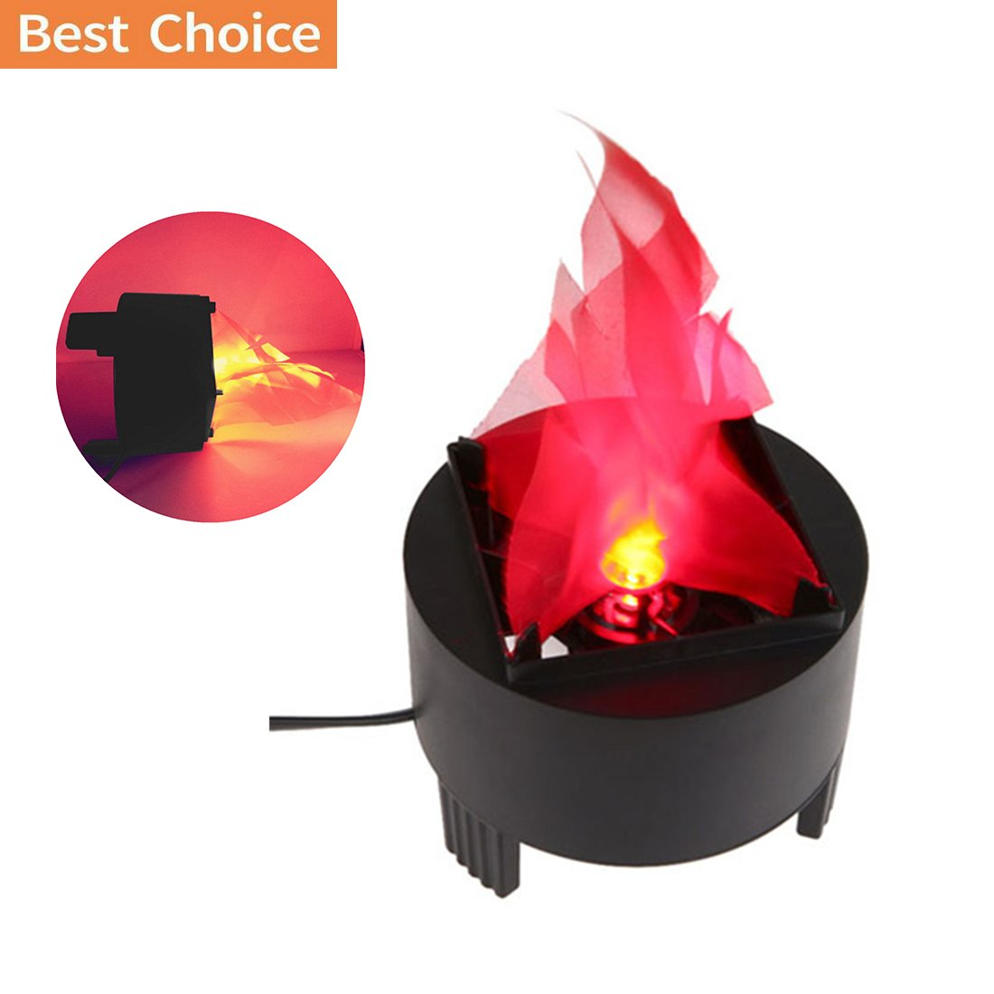 Portable Electronic 3W LED Fake Fire Flame Simulated Flame Effect Light Campfire Centerpiece with Pot Bowl for Night Clubs Party Home Decor (US Plug)