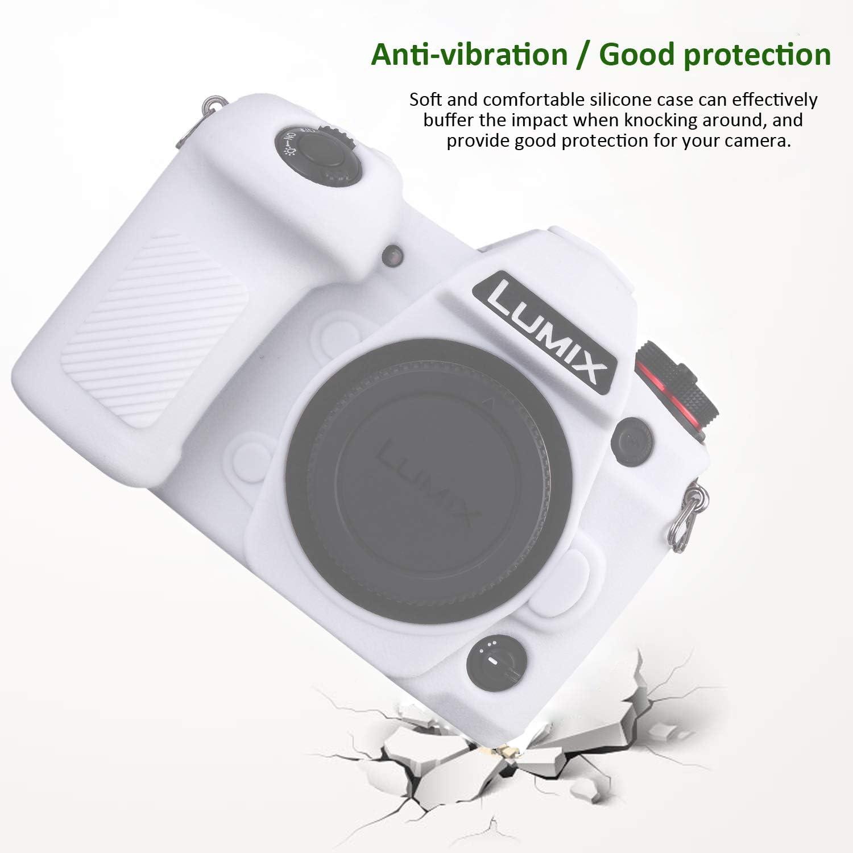 Easy Hood Schutzhülle Kompatibel Mit Panasonic Lumix G9 Kamera Weiches Silikongummi Gehäuse Rahmen Schutzhülle Skin Protector Weiß Elektronik
