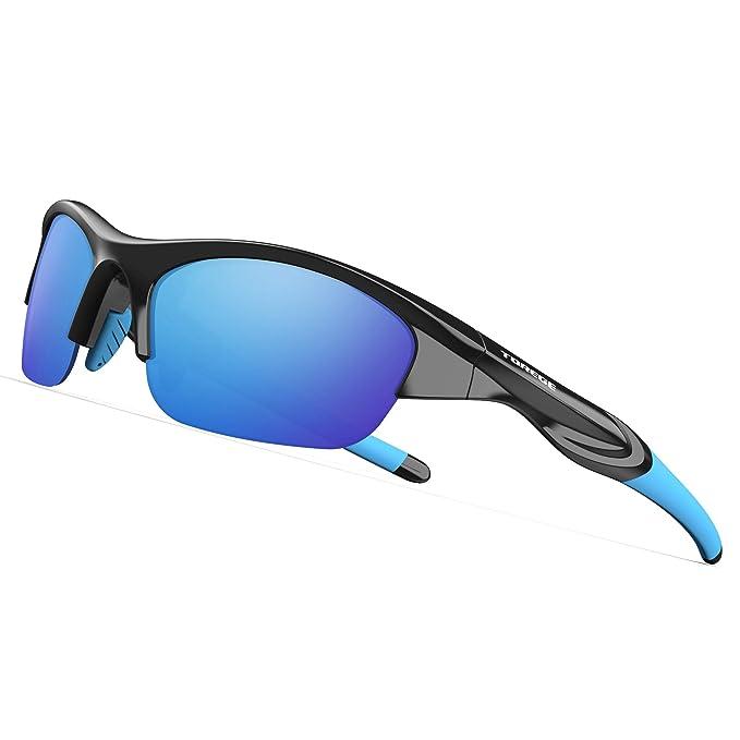 Amazon.com: TOREGE Tr90 - Gafas de sol deportivas para niños ...