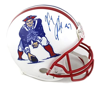 Autographed Rob Gronkowski Helmet - Riddell Throwback Full Size Red Mask -  Autographed NFL Helmets 39f925eb1