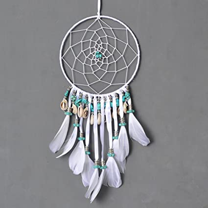 Dremisland dreamcatcher gif t handmade dream catcher net with feathers wall hanging decoration ornament turquoise