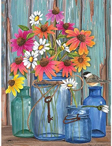 NEILDEN DIY 5D Diamond Art Kits for Adults Clearance, Full Drill Diamond Painting Kits for Adults, Flowers Diamond Paintings Starter Kit for Beginners 12x16inch/30x40cm