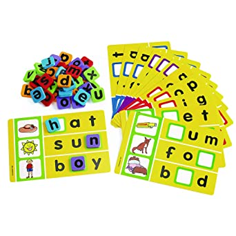 Excellerations Phonics Spelling Game for Kids and Classrooms Classroom  Activity (12 Game Boards)