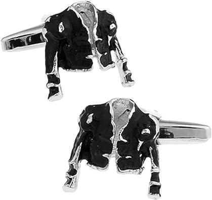 Epinki Esmalte Gemelos para Hombre Negro Chaqueta Gemelos Clásico Camisa Smoking Gemelos para Boda Negocio: Amazon.es: Joyería