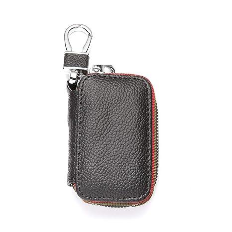 Amazon.com: YHD - Llavero de piel auténtica con gancho de ...