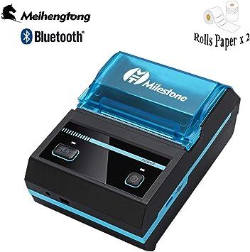 Impresora térmica Bluetooth con recibo térmico 58 mm Mini ...