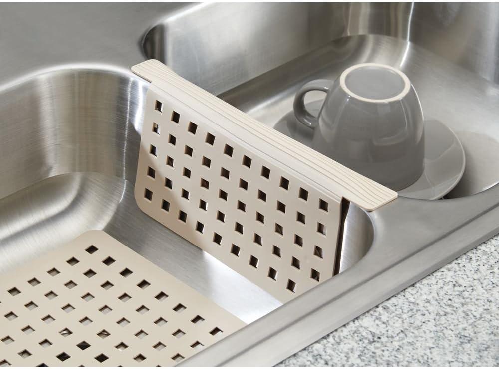 idesign euro kitchen sink protector mat regular taupe 11 x 12 5