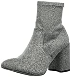 Qupid Women's Mariko-06 Fashion Boot, Silver, 8.5 M US