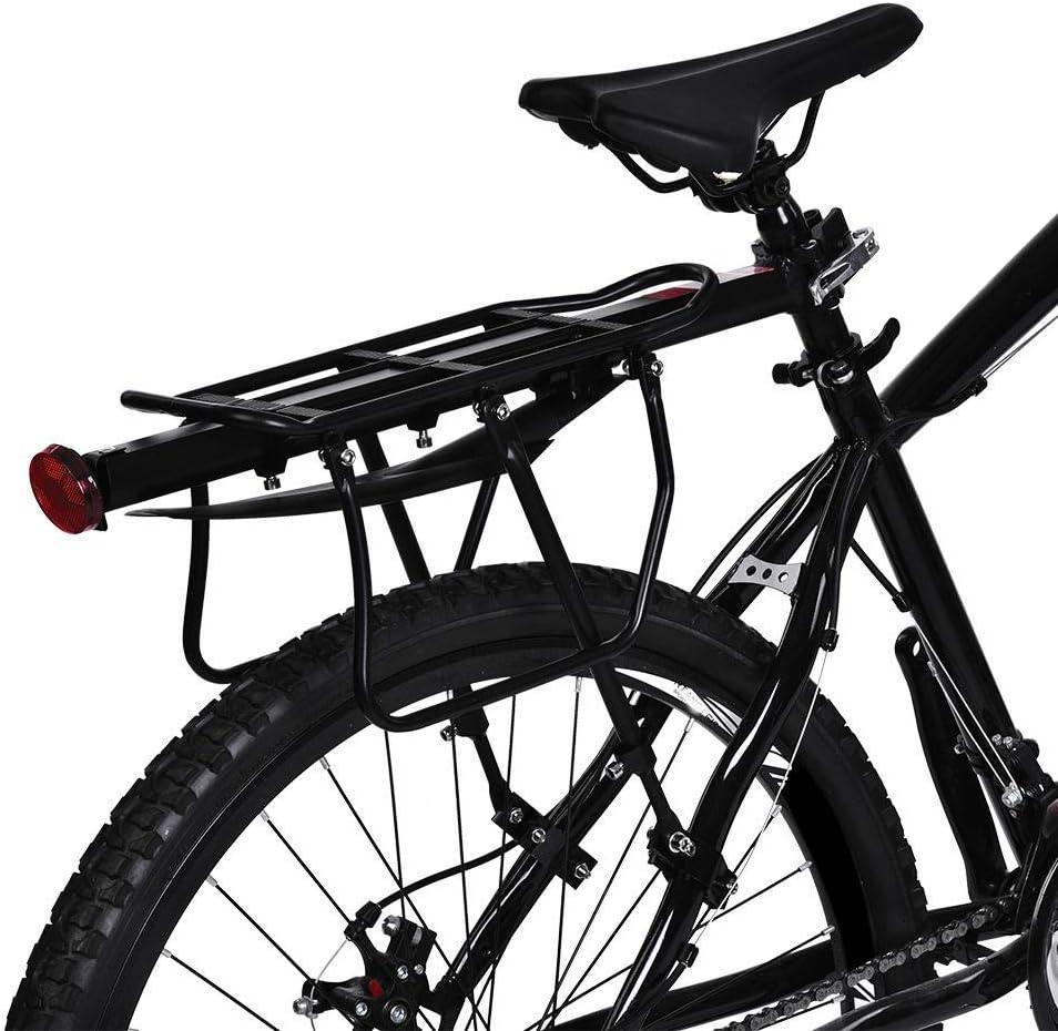 Sillín trasero para bicicleta, portaequipajes de bicicleta negro ...