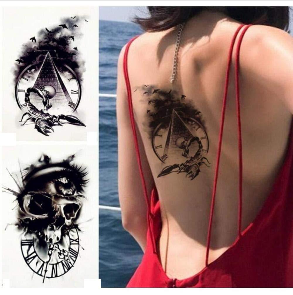 Falsa Etiqueta Engomada Del Tatuaje Temporal Pirámide Antigua ...