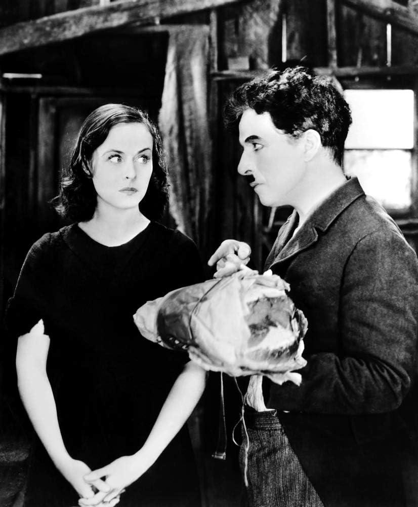 8x10 photo Charlie Chaplin and Paulette Goddard