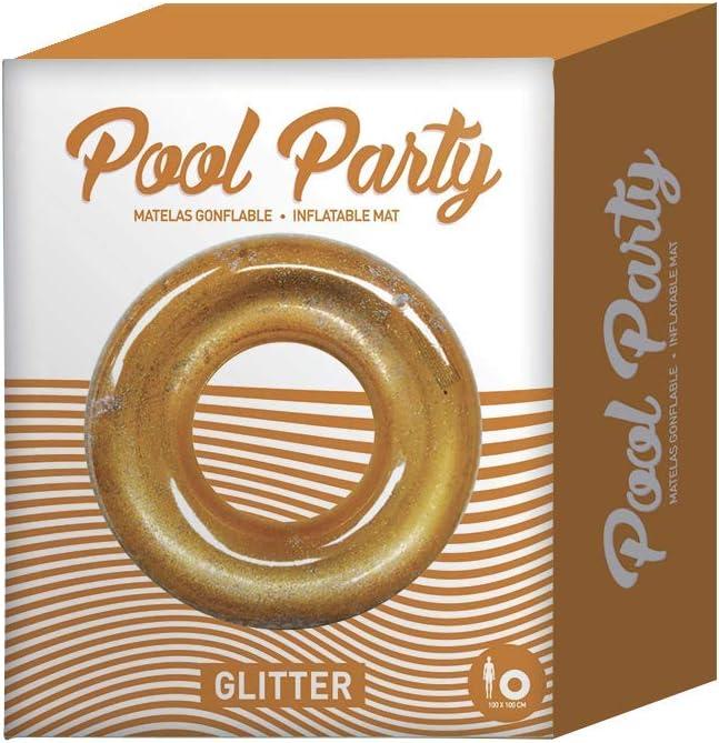 Anneaux Piscine Original Cup 128 x 128 x 28 cm Bou/ée Piscine PVC Jeux de Piscine d/Ét/é Bou/ée Gonflable Style Paillettes Bou/ée Adulte Paillettes Glitter Pool Party Bou/ée Brill/ée