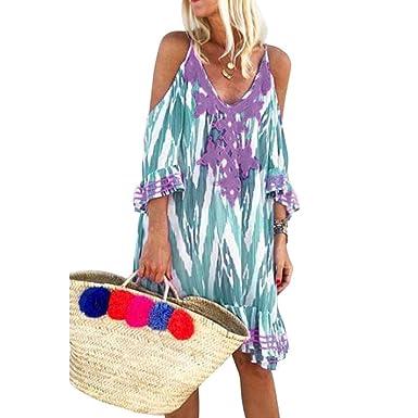 Falda De Playa para Mujer, Blusa De Viento De Playa con Estampado ...