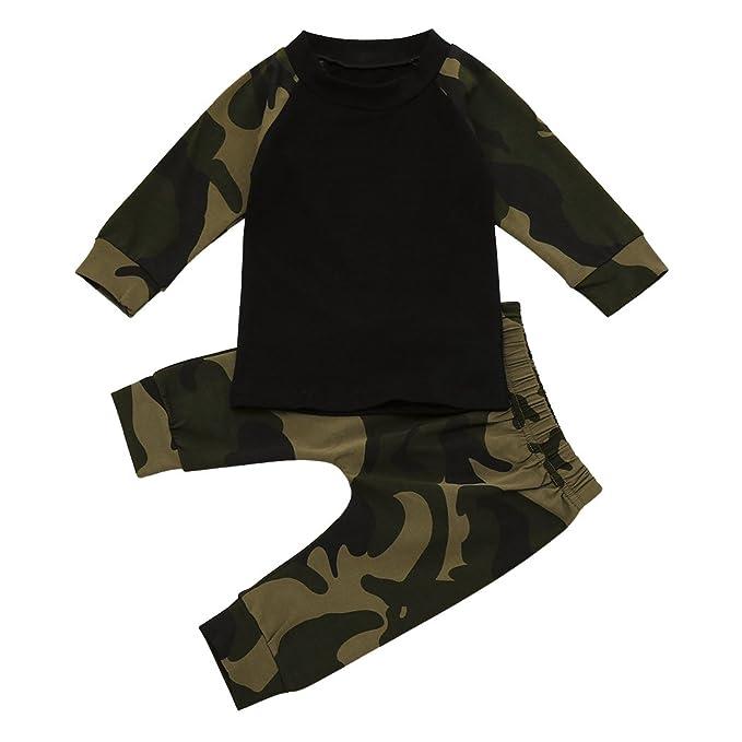MIOIM® Cool Baby Niños Camuflaje T-Shirt Tops Pantalones Largos ...