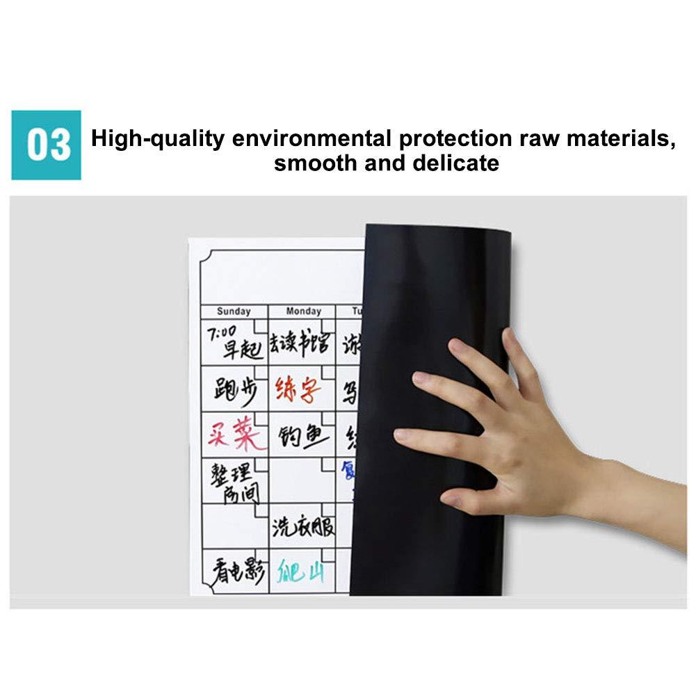 Magnetic Planner Board Dry Erase Weekly Monthly Memo Board Calendar Sticker for Fridge,White