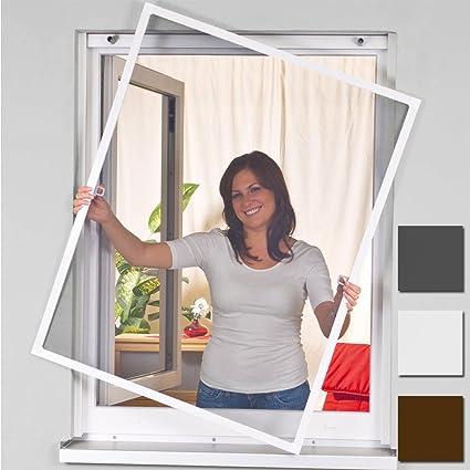 easylife 000-2011 - Mosquitera para ventanas (100 x 120 cm, con marco