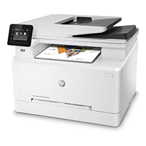 HP Color Laserjet Pro M281fdw All in One Wireless Color Laser Printer with Auto Two-sided Printing, Mobile Printing & Built-in Ethernet, Amazon Dash Replenishment Ready (T6B82A)