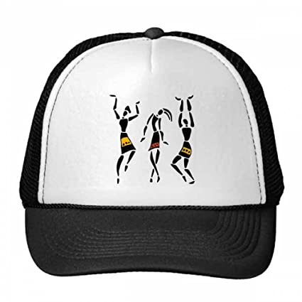 Amazon.com   Primitive Africa Aboriginal Black Totems Dance Trucker Hat  Baseball Cap Nylon Mesh Hat Cool Children Hat Adjustable Cap Gift   Sports    ... 20e208db8c7