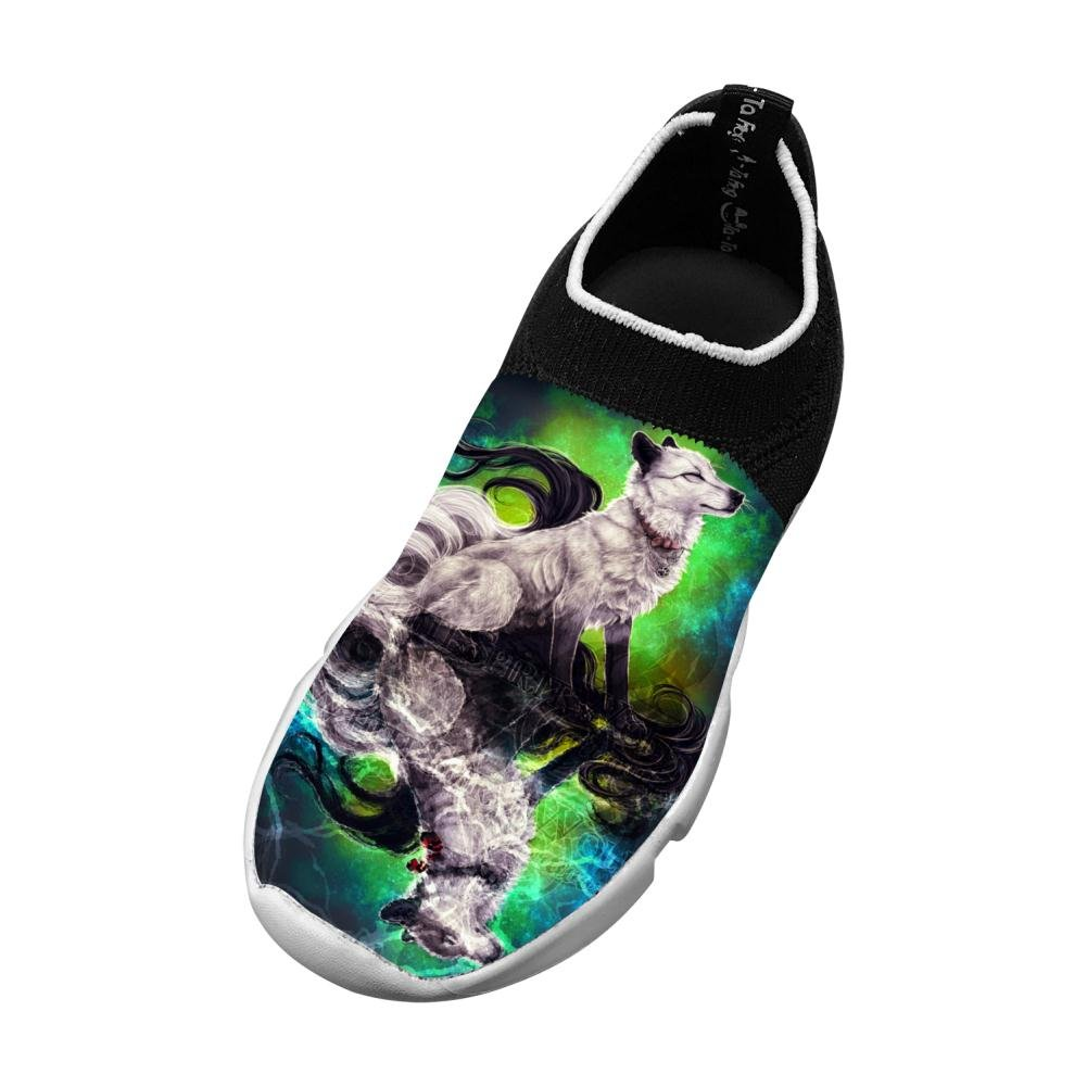 XieZbd Kids Space Wolf7 Unique Fly Knit Sneaker Shoes