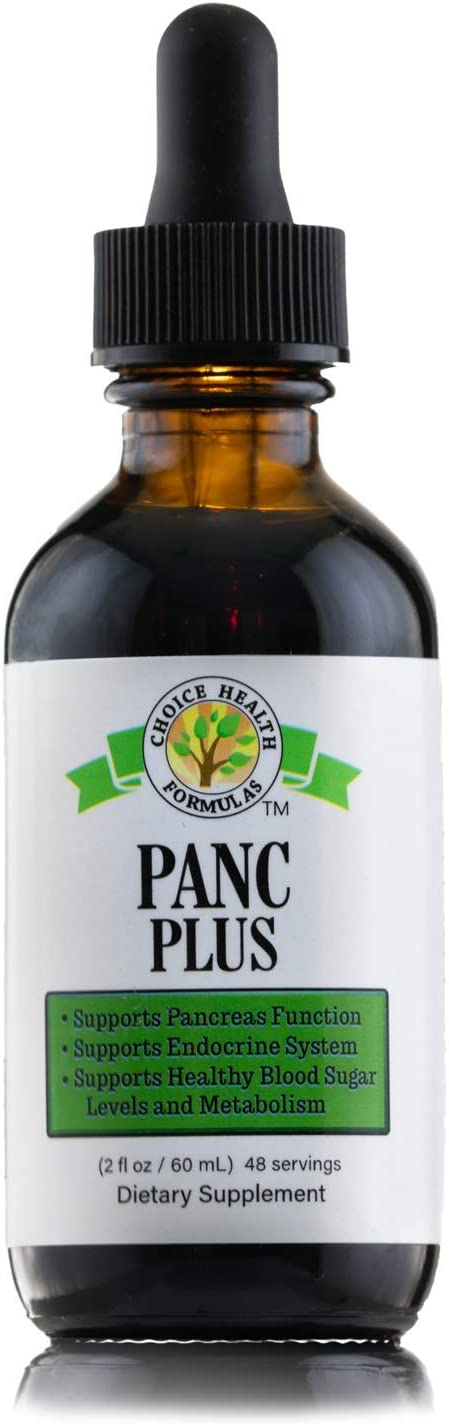 Choice Health Panc Plus 2 oz Pancreas Support Formula Drops – Helps with Pancreas Health Functions, Balancing Sugar Glucose Metabolism – Vegan, Non GMO, Gluten Free, Herbal Dietary Supplement