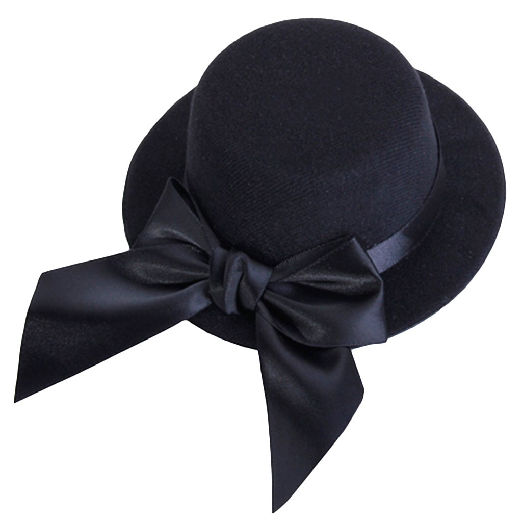 Amazon.com  SODIAL(R) Ladies Mini Top Hat Fascinator Burlesque Millinery  w Bowknot - Black  Toys   Games ad39ab0953e