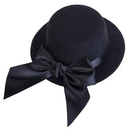 Amazon.com  SODIAL(R) Ladies Mini Top Hat Fascinator Burlesque Millinery  w Bowknot - Black  Toys   Games b808e78fecc