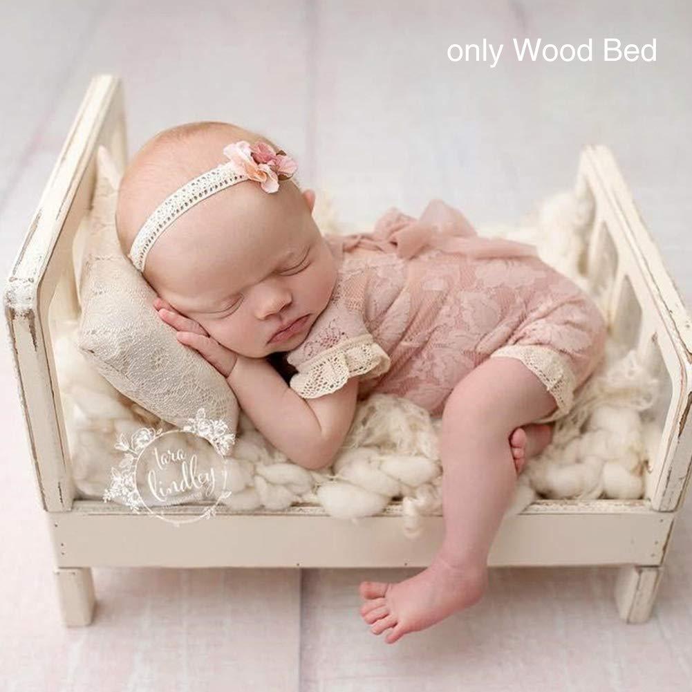 Newborn Photography Props,Crib Props Background Accessories Studio Detachable Wooden Bed Crib Photography Accessories Decoration.