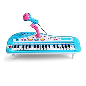 Piano para niños, Foxom 37 Teclas Electrónico Teclados Piano con Micrófono Piano Juguete Musical Regalo