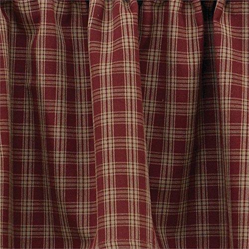 Sturbridge Tier Curtain Pair 72W x 36L, Wine