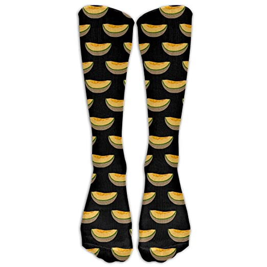 Melon Fruit Art Pattern Thin Crew Socks Tube Socks Novelty Dress Socks For Womens Mens
