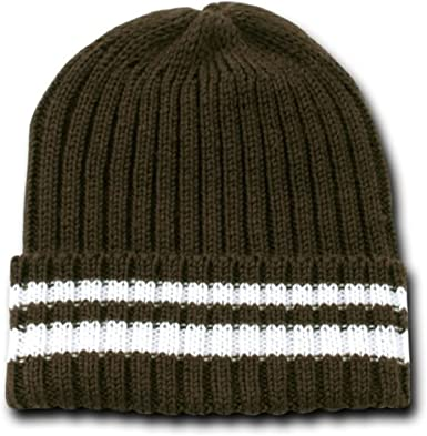 12 Pack One Size, Brown Sweater Beanie Knit Beanie Cap Decky