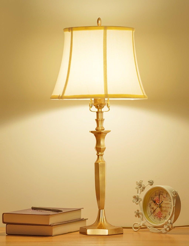 Tischlampe Amerikanisches Land retro Hochzeit Schlafzimmer Wohnzimmer voll Kupferlampe Schöne und praktische Schreibtischlampe