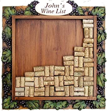 wine cork collectors carved frame