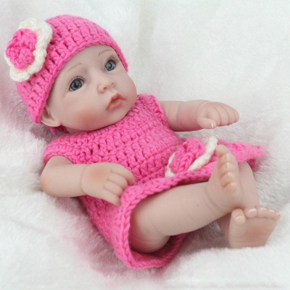 GHCX Mutter und Kind Training Training Training Puppe Mädchen Simulation Wiedergeburt Babypuppe Kunststoff Puppe Kreative Geburtstagsgeschenk 28CM 203eb4
