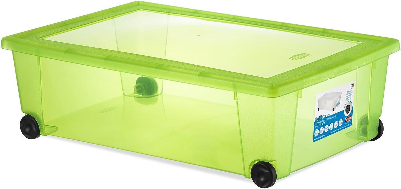 Stefanplast Roll-Box Contenitore Multiuso con Ruote Bianco 59x39x18.5h
