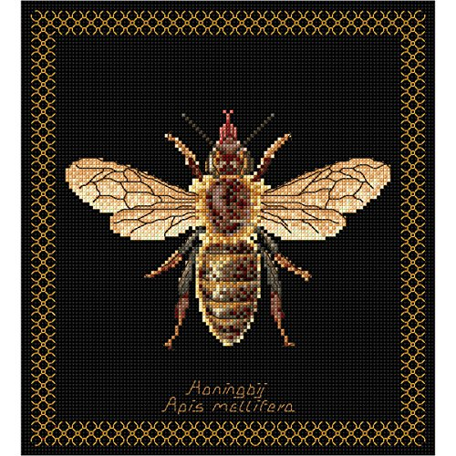 Thea Gouverneur 18 Count Honey Bee on Aida Counted Cross Stitch Kit, 8 x ()