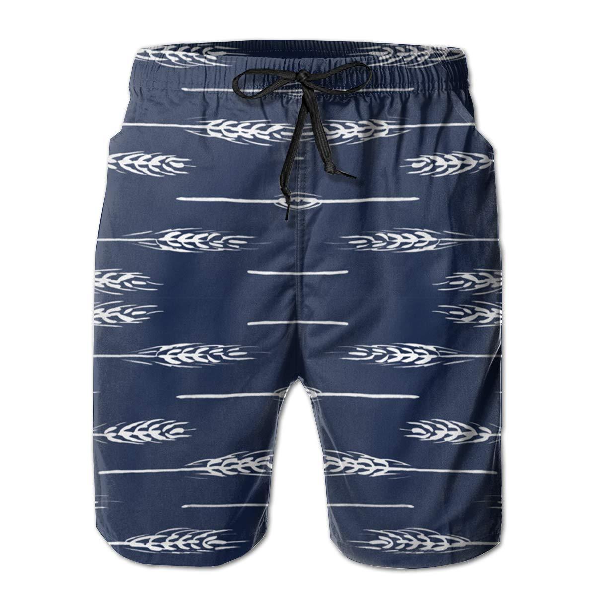 EYFlife Wheat Men/¡/¯s Beach Board Shorts Quick Dry Swim Truck Shorts