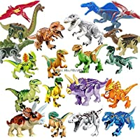 2 Pcs Legoings Jurassic Dinosaurs World Park Dinosaur Raptor Protection Zone Building Blocks Set Kids Toys juguetes Compatible Legoing Birthday Gift