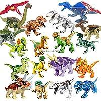 1 Pcs Legoings Jurassic Dinosaurs World Park Dinosaur Raptor Protection Zone Building Blocks Set Kids Toys juguetes Compatible Legoing Birthday Gift