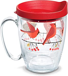 Tervis Cardinals Insulated Tumbler with Wrap and Lid, 16 oz Mug - Tritan, Clear