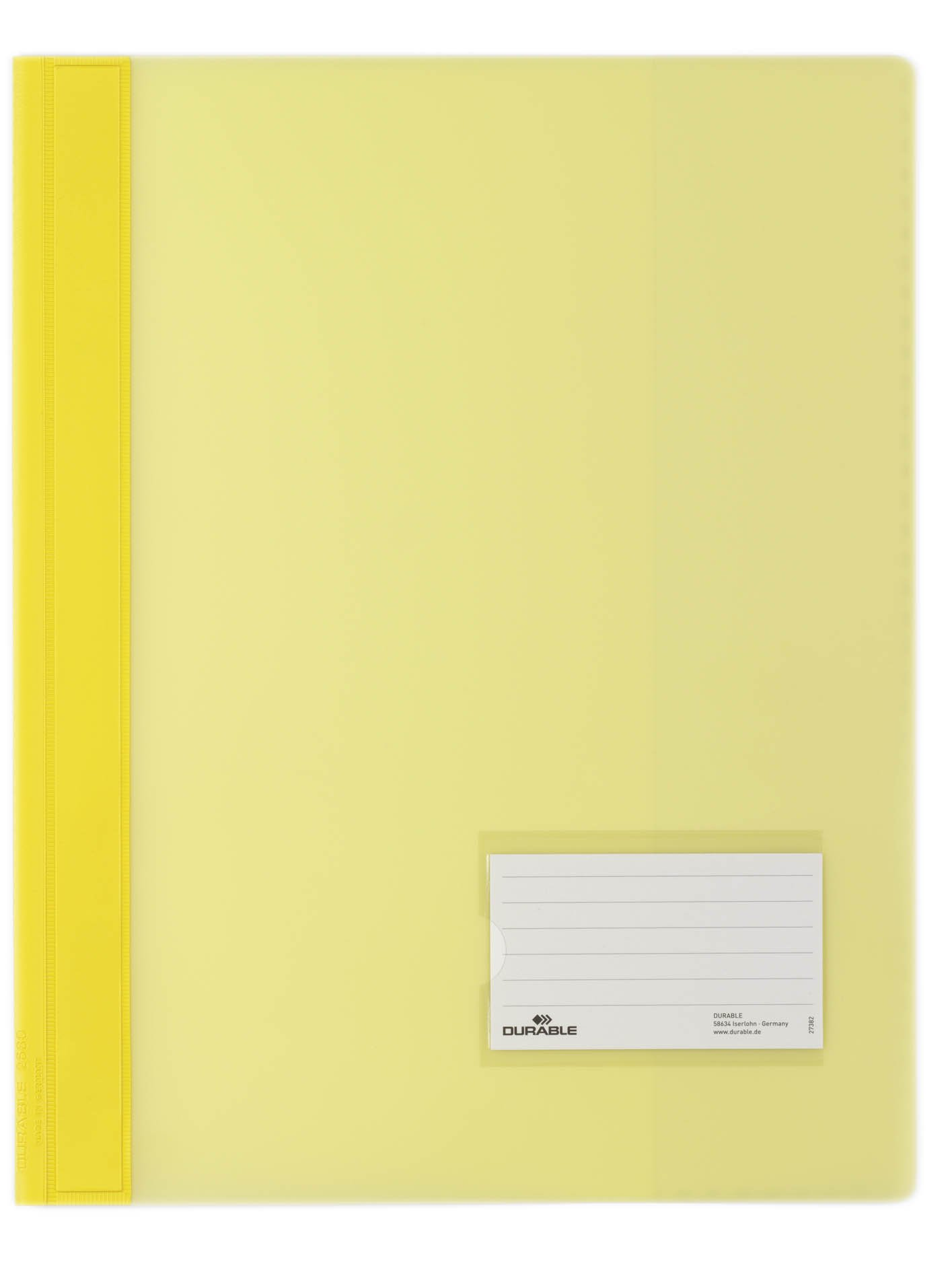 Durable Duralux 268004 A4 PVC Document Folder - Yellow (Pack of 25)