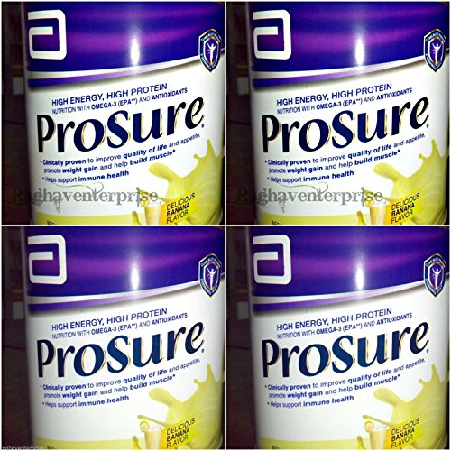 Abbott Prosure 400 gm Banana for Weight Gain Nutrition Cachexia Lean Mass Gain Anorexia pack of 4 by Abbott