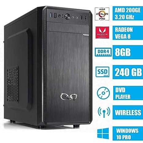 CEO Alpha V2 WD - Ordenador de Sombremesa AMD 200GE 3.20GHz ...