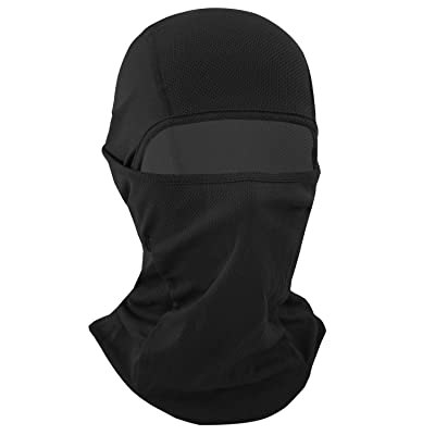 Your Choice Balaclava Face Mask for Summer Hot Weather Cycling Motorcycle Black: Clothing