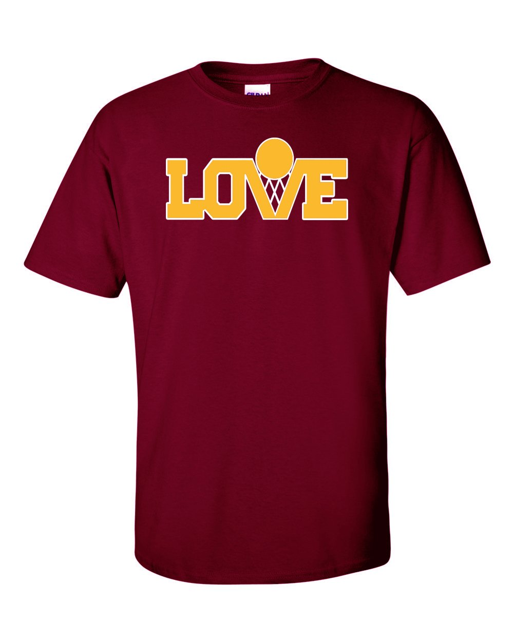 The Silo MAROON Cleveland ''Love Logo'' T-Shirt ADULT