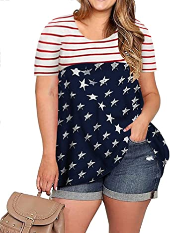 SportsX Mens Short Sleve Denim Patriotic July 4th Shirt Blouse Tops